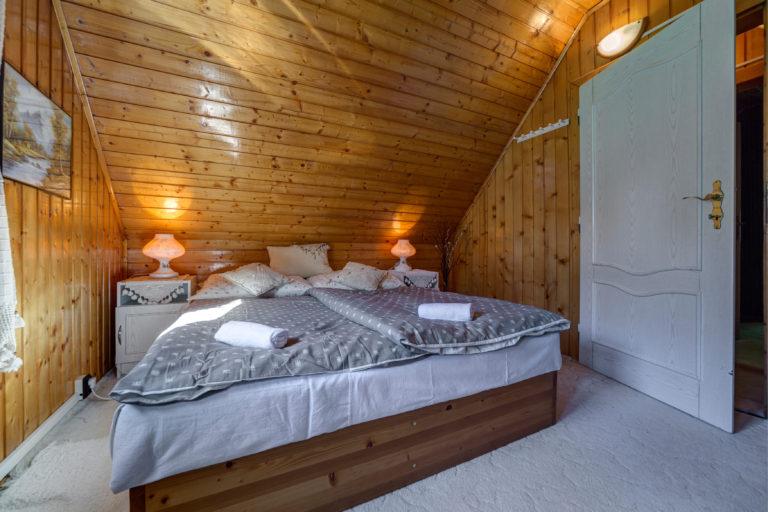 Romanticka chata Liptovský Ján manzelska postel