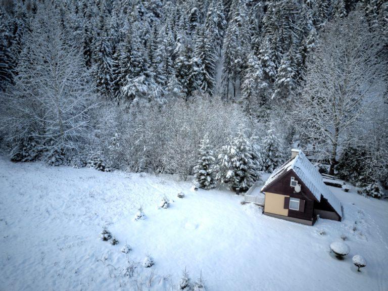 Romanticka chata Liptovský Ján sneh