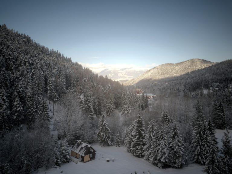 Romanticka chata Liptovský Ján - janska dolina v zime 2