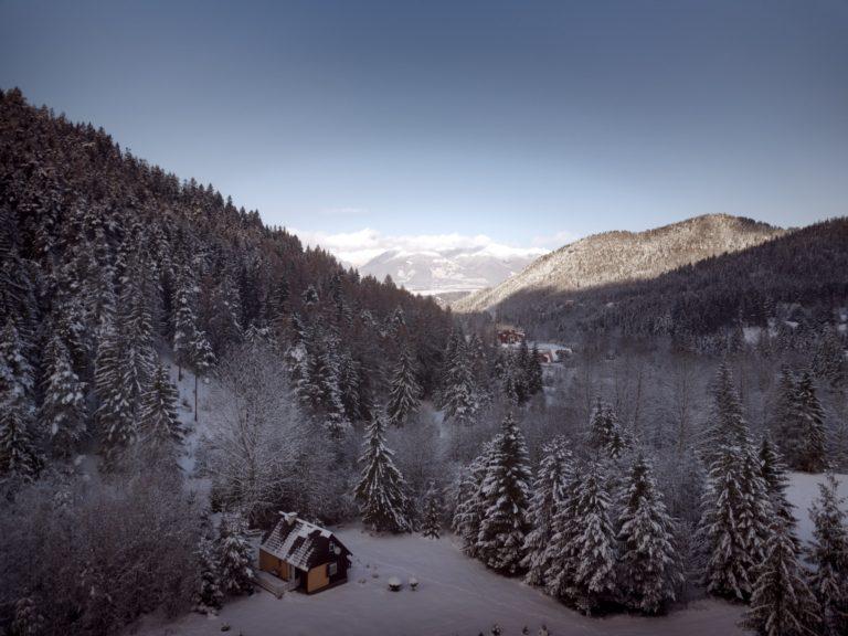 Romanticka chata Liptovský Ján - janska dolina v zime