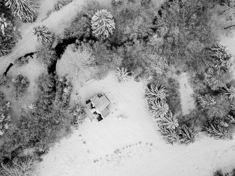 Romanticka chata Liptovský Ján zhora v zime - janska dolina